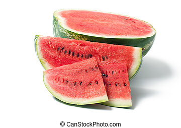 the watermelon - photo shot of the watermelon on white ...