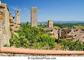 Tuscany city - Photo shows a general view of the Tuscany ...