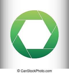 Photo sign. Green gradient icon