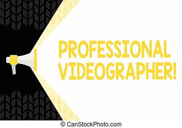 photo, signe, vidéo, vide, capacité, espace, videographer., texte, conceptuel, porte voix, projection, payé, volume, étendre, métier, démontrer, films, large, travers, gamme, professionnel, marques, beam.