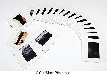Photo slides overwhite
