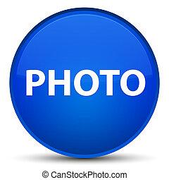 Photo special blue round button