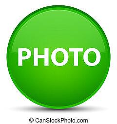 Photo special green round button