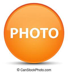 Photo special orange round button