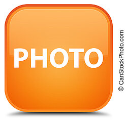 Photo special orange square button