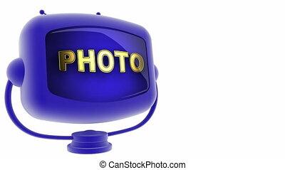 photo on loop alpha mated tv