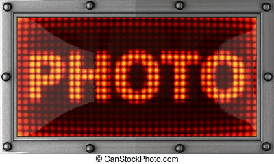 photo  announcement on the LED display