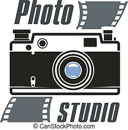 Photo studio camera vector icon