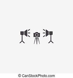 photo studio icon, isolated, white background