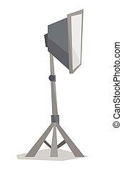 Photo studio lighting equipment. - Side view of photo studio...