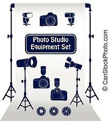 Photo studio set.