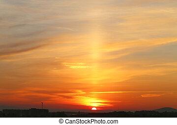 Photo sunset sky - beautiful landscape with a sunset sky ...