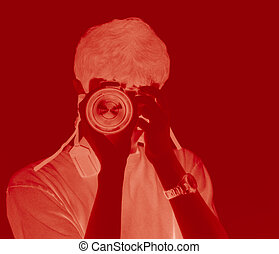 Photo Taking in Red