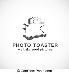 Photo Toaster Abstract Vector Logo Template