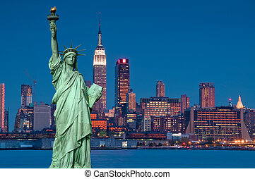 tourism concept new york city with statue liberty - photo ...