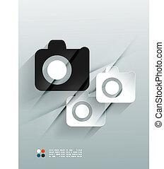 Photo vector 3d paper design
