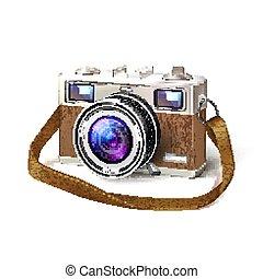 photo, vendange, lentille, réaliste, appareil photo, macro, pellicule