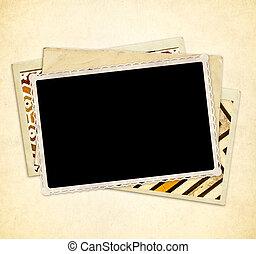 photo, vendange, poste, vieux, cartes, fond