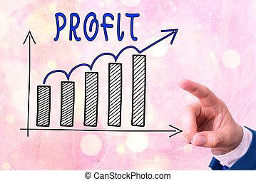 photo, ventes, croissant, ou, showcasing, économies, note, ...
