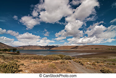 vibrant beautiful scenic landscape with sky and clouds