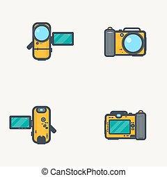 photo, vidéo, camara