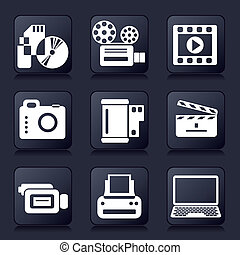 photo video icons