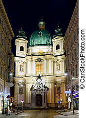 Photo view to the peterskirche st peters church