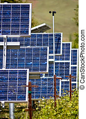 Photo Voltaic - A collection of photo voltaic panels used to...