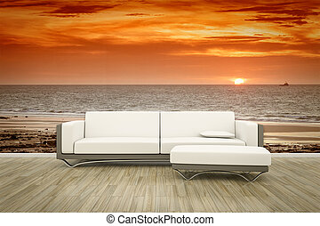 photo wall mural sofa floor
