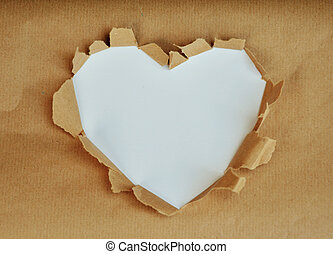 Photo which shows a white heart