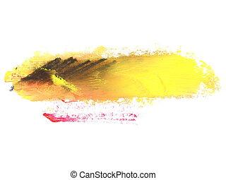 yellow grunge brush strokes oil