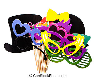 Photobooth Birthday and Party Set - glasses, hats, crowns, ...
