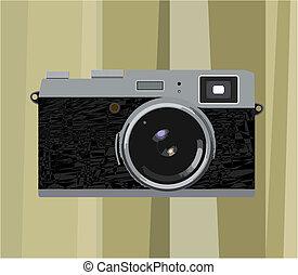 Photocamera - Film cameras on a linear background