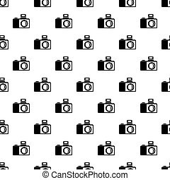Photocamera pattern seamless repeating for any web design