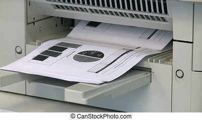 Photocopy - Photocopier scanning document