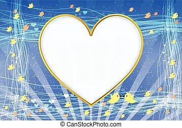 PhotoFrame. Heart in shape