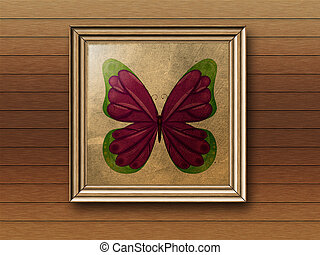 Photoframe with butterfly