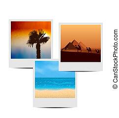 photoframes, estate, fondo