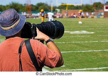 photogapher, football, -, sport, americano, professionale