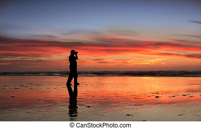 Photograher Sunset