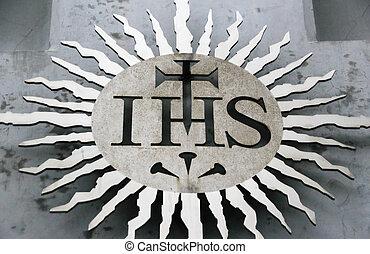 Jesuit religious symbol - Photograph of a Jesuit religious...