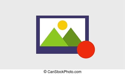 photograph of mountains and sun icons - photograph of...