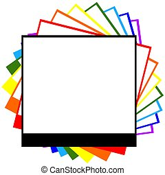 photograph rainbow - photograph outline with messsage space...