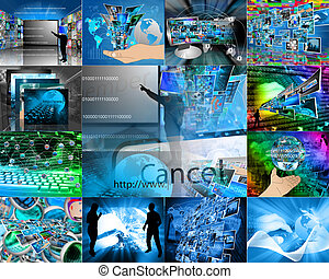 keyboard - Photograph which depicts a collage made up of the...