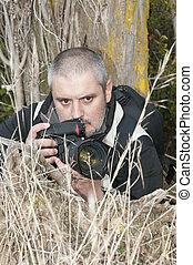 photographe, action.
