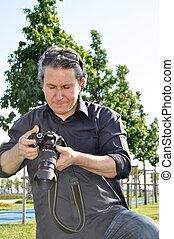 photographe, appareil photo, dslr