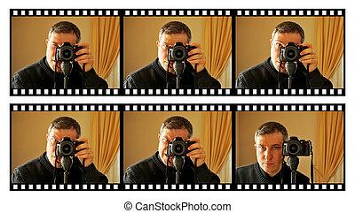 photographe, expressions, facial