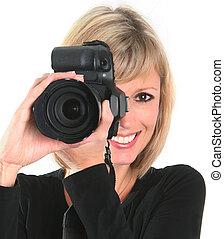 photographe, femme