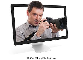 photographe, ligne