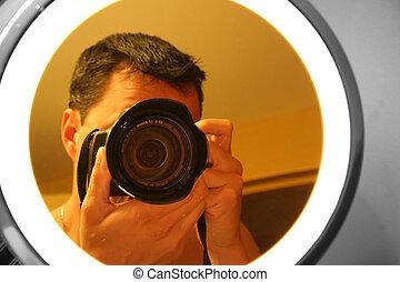 photographe, miroir